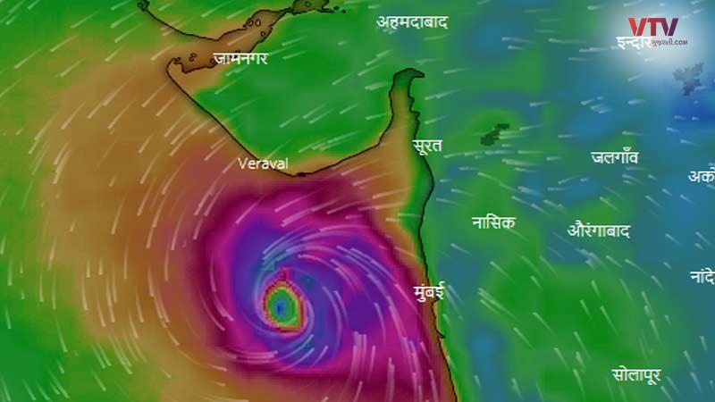 again heavy rain alert in Gujarat Windy Sky mate Cyclone Alert