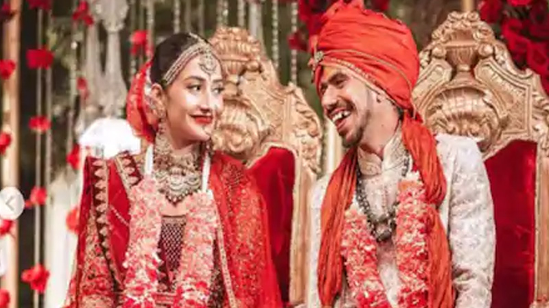 yuzvendra chahal ties the knot with dhanashree verma