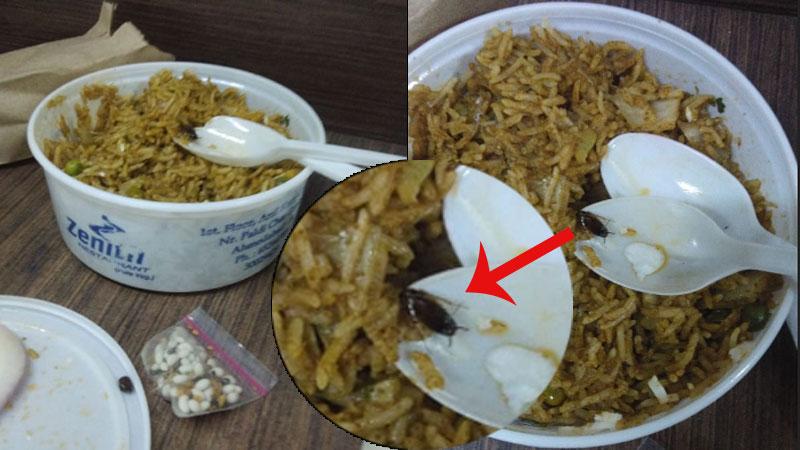 Zenith restaurant unhygienic food zomato ahmedabad