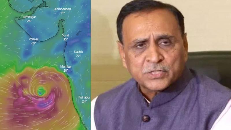 'વાયુ'ના ખતરા પર CM રૂપાણીએ કરી અપીલ, તંત્રની છે આવી તૈયારીઓ